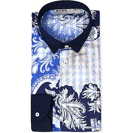 ETRO Paisley print shirt (Blue