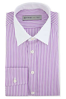 ETRO Contrast-collar regular-fit single-cuff shirt