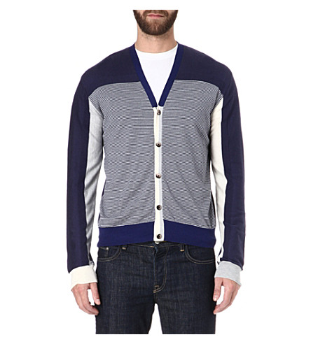 ETRO Cashmere-blend striped cardigan (Blue