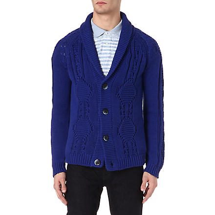 ETRO Shawl-lapel cardigan (Blue
