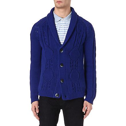 ETRO Shawl-lapel cardigan (Blue