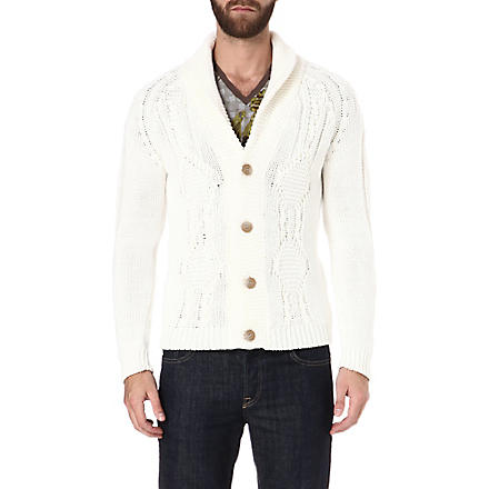 ETRO Shawl-lapel cardigan (White