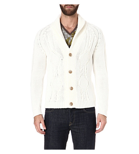 ETRO Shawl-lapel cardigan (White