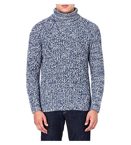 ETRO Cashmere roll-neck jumper (Blue