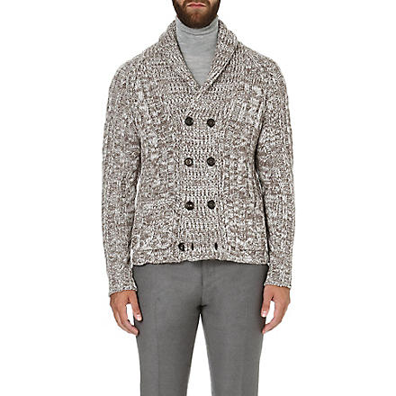 ETRO Cashmere cable-knit cardigan (Camel