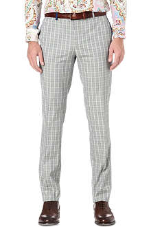 ETRO Checked cotton trousers