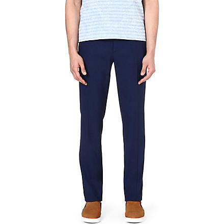 ETRO Stretch-cotton trousers (Blue