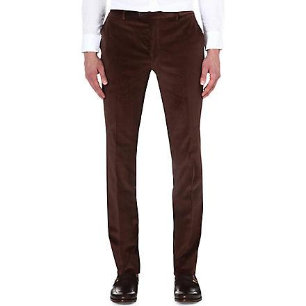 ETRO Corduroy slim-fit stretch-cotton trousers (Choc