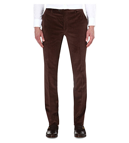 ETRO Corduroy slim-fit stretch-cotton trousers (Choc