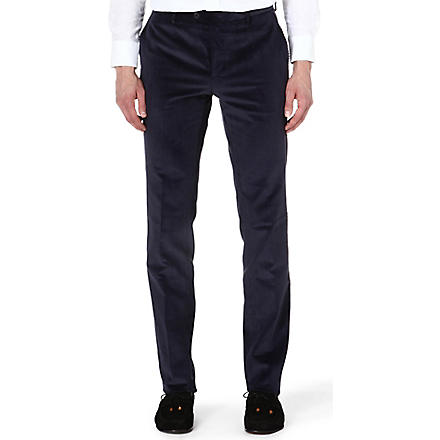 ETRO Corduroy slim-fit stretch-cotton trousers (Navy
