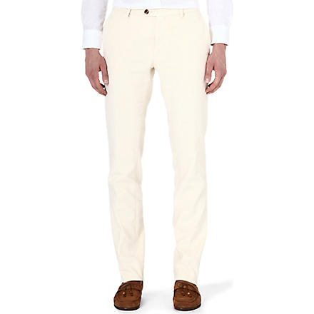 ETRO Corduroy slim-fit tapered trousers (Ivory