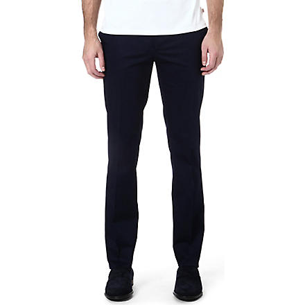 ETRO Slim-fit stretch-cotton trousers (Blue