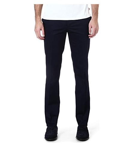 ETRO Slim-fit stretch-cotton trousers (Blue