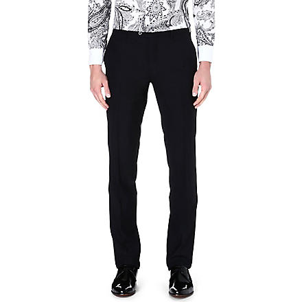 ETRO Satin stripe trousers (Black