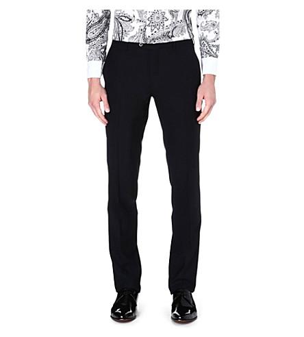 ETRO Satin stripe trousers (Black