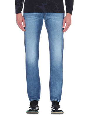 ETRO Paisley-trim regular-fit straight jeans