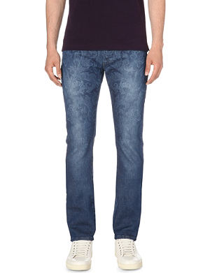 ETRO Paisley-print regular-fit tapered jeans