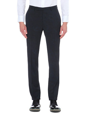 ETRO Paisley-print wool trousers