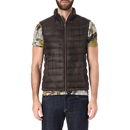 ETRO Paisley check quilted gilet (Green