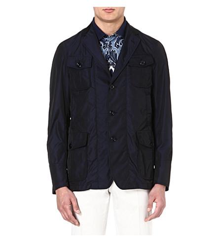 ETRO Nylon jacket (Blue