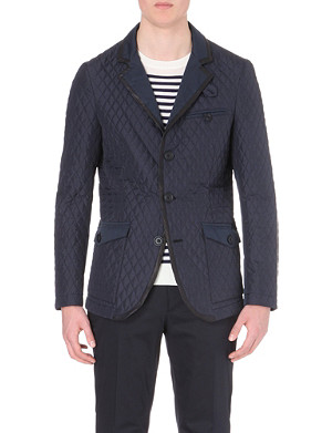 ETRO Leather-trimmed quilted blazer