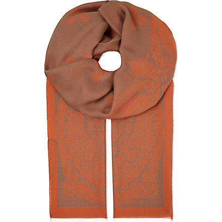 ETRO Silk-mix scarf (Green