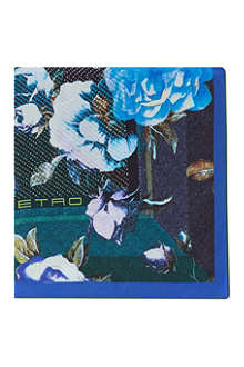 ETRO Photographic floral pocket square