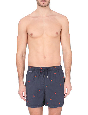 ETRO Embroidered crab swim shorts