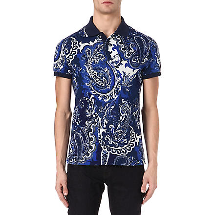 ETRO Paisley polo shirt (Blue