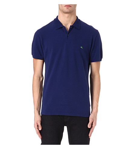 ETRO Logo polo shirt (Blue