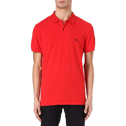 ETRO Logo polo shirt (Red