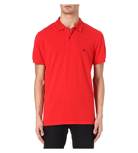 ETRO Logo polo shirt (Red