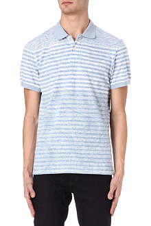 ETRO Striped paisley polo shirt
