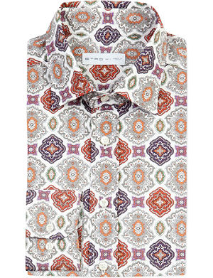 ETRO Ornate-patterned cotton shirt