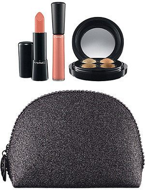 MAC Keepsakes golden lip & eye bag