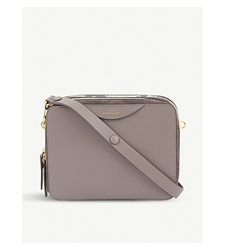 ANYA HINDMARCH The Stack leather double cross-body (Porcini+/+natural