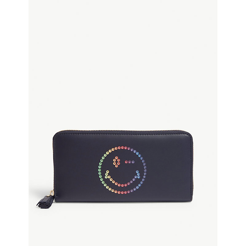 ANYA HINDMARCH Rainbow wink leather wallet