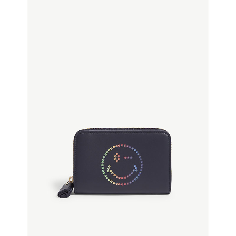 ANYA HINDMARCH Rainbow wink small leather wallet