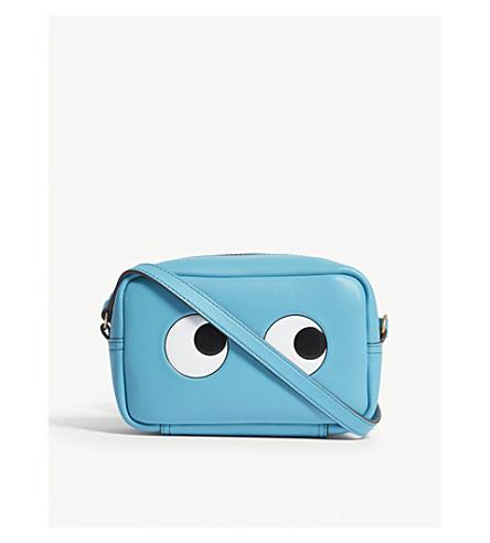 ANYA HINDMARCH Eyes mini leather cross-body bag (Turquoise