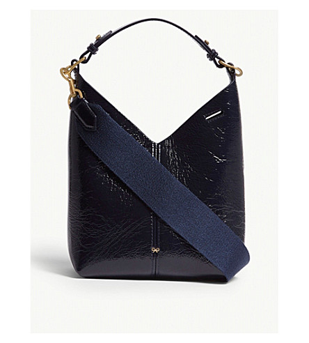 ANYA HINDMARCH Build A Bag Mini leather hobo bag (Marine