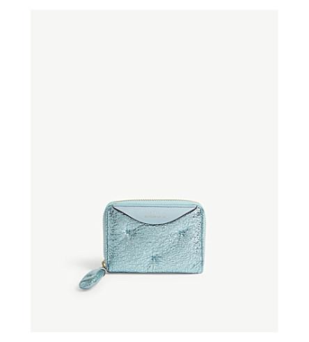 ANYA HINDMARCH Chubby small leather wallet (Aquamarine