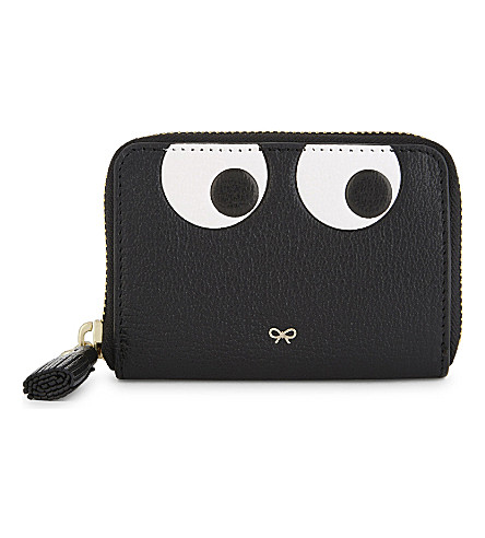 ANYA HINDMARCH Eyes small leather purse (Black