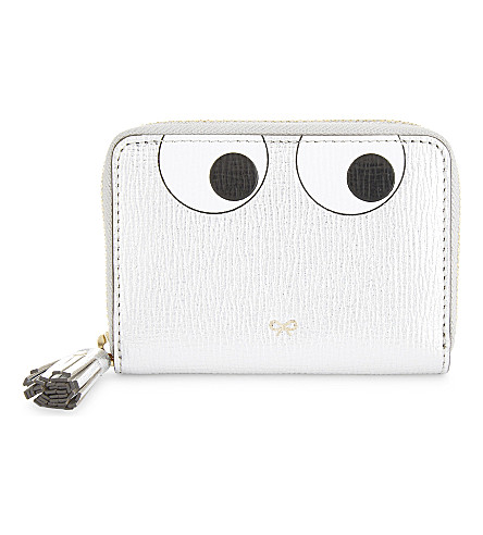 ANYA HINDMARCH Metallic leather purse (Silver
