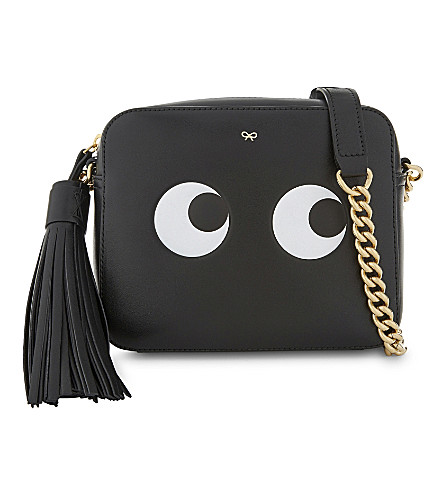 ANYA HINDMARCH Leather eyes design cross-body bag (Black