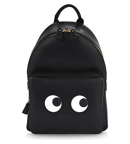 ANYA HINDMARCH Eyes mini leather backpack (Black
