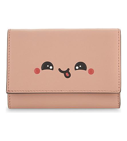 ANYA HINDMARCH Kawaii leather trifold purse (Powder pink