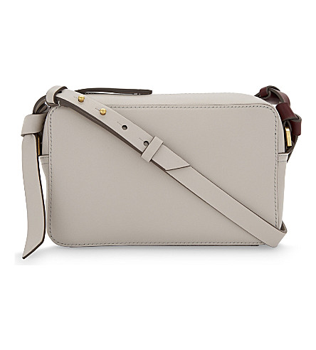 ANYA HINDMARCH Circle mini leather cross-body bag (Steam