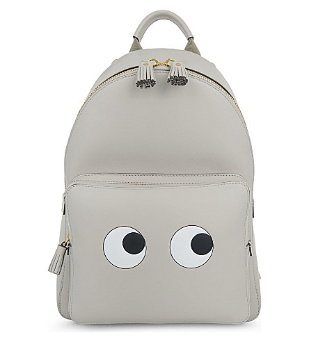 ANYA HINDMARCH Eyes leather backpack (Steam