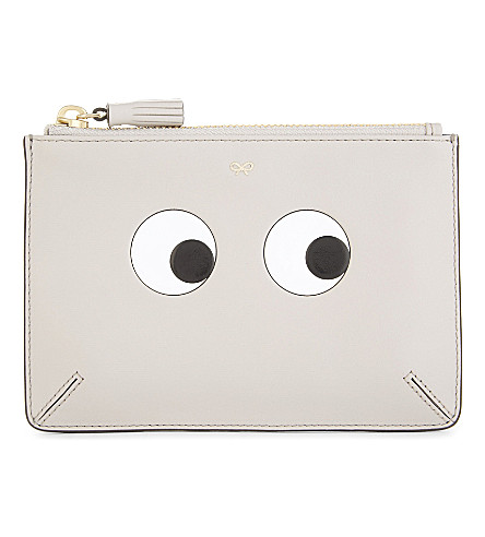 ANYA HINDMARCH Eyes small leather pouch (Steam
