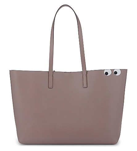 ANYA HINDMARCH Eyes graphic Ebury leather tote (Rose